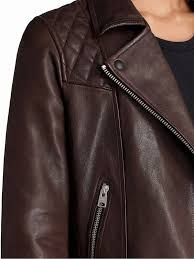 allsaints conroy leather biker jacket womens allsaints short long sleeve 100 leather leather jackets oxblood red style clothing 257246