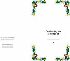 Wedding Program Designs 37 Printable Wedding Program Examples Templates Template Lab
