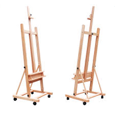 paint or draw anywhere with the help of the dhj 02 360 degree spinner wheel red beech wood rolling easel