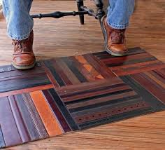 recycled leather belt mat