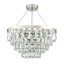 sceptre crystal ceiling pendant light in polished chrome sce0350