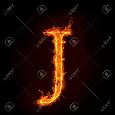 Fire Alphabets In Flame Letter J