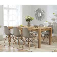 dsw style plastic dining chair warm grey