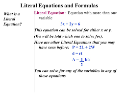 2 literal equations