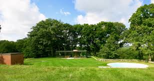 philip johnson s glass house compound new canaan ct