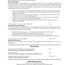 Banquet Manager Resume Stunning General Manager Resume Hotel General Manager Resume L Telephone Cell