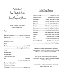 Sample Wedding Ceremony Outline 8 Ideas Bylei