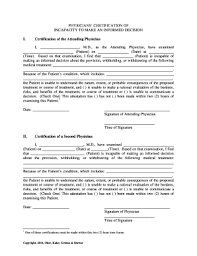 Physician Certification Of Incapacity Fill Online Printable