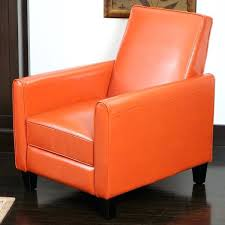 christopher knight home knight home orange bonded leather recliner club chair christopher knight home ivory fabric