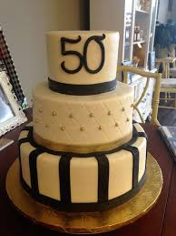 50th Birthday Cakes For Men Gold And Black 50th Birthday Cake Mens