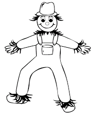 Small Picture Scarecrow Coloring Page fablesfromthefriendscom