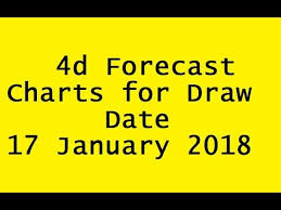 4d Chart Prediction 4d Forecast Charts For Draw Date 17 January 2018 Youtube