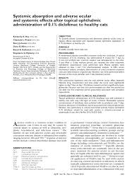 Pdf Systemic Absorption And Adverse Ocular And Systemic