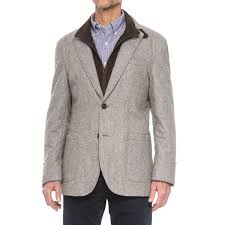 James Campbell Quilted Sport Coat (For Men) - Save 67% & James Campbell Quilted Sport Coat - Removable Bib Placket (For Men) in Grey  ... Adamdwight.com