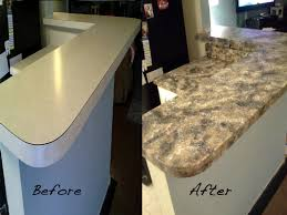 Sponge Painting Countertops Refacing Elegant Kitchen Ideas With Formica Black Faux Granite