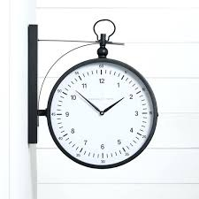 double sided wall clock two modern metro station 2