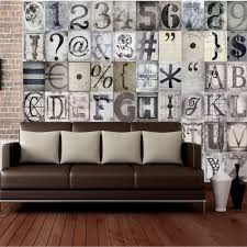 1 wall typography letters 64 piece creative collage wall art c64p typo 001
