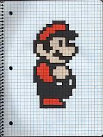 8 Bit Mario Rick Drew Things