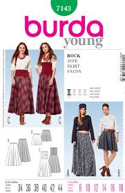 Burda Patterns Magnificent Burda 48 Misses Skirt