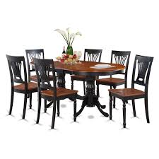 7 piece black dining room set. Amazon.com: East West Furniture PLAI7-BLK-W 7-Piece Dining Table Set: Kitchen \u0026 7 Piece Black Room Set D