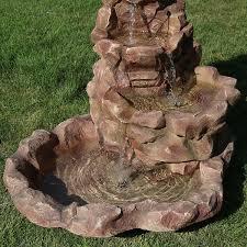 Lighted Water Fountain Outdoor Decor Sunnydaze Lighted Stone Springs Outdoor Water Fountain
