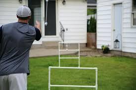 diy ladder golf ladder golf in action mid toss diy wooden ladder ball