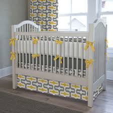 gray and yellow embrace crib bedding
