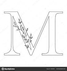 M Lettering Design Floral Letter M Romantic Lettering Design With Flowers