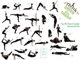 30 Daily Yoga Poses Chart Gogreenvibe Vibe