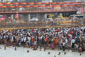 my story i was terribly afraid of the kumbh mela till i finally the shahi snan area and procession separated by barricades at ramkund nashik
