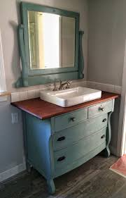 Duck Egg Blue Bathroom Accessories I Just Repurposed An Old Dresser To Use As A Vanity In Our New