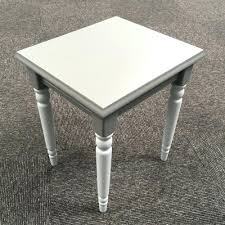 Beautiful Small Gray Side Table Round Grey Gloss White And Kitchen
