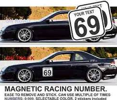 image is loading 2x race car number magnetic door jdm prelude