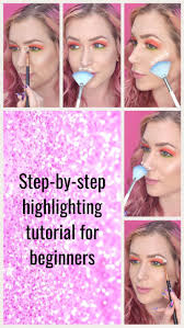 a step by step guide one how to highlight like a pro using face painting