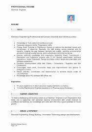 Sample Resume Fresh Graduate Electrical Engineering Cv Templates For