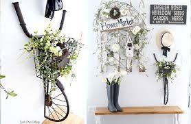 vintage bicycle wall d cor bike planter on bike wall artwork with bike and basket wall art vintage bicycle decor