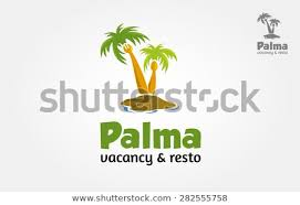 restaurants logo with a palm tree. Modren Tree Vector Logo Illustration Of Palm Tree In Island Itu0027s Good For Tropical  Restaurant Resort On Restaurants Logo With A Palm Tree