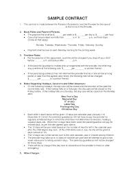 Basic Contract Outline Film Crew Contract Template