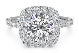 round cut french set halo diamond band engagement ring in platinum