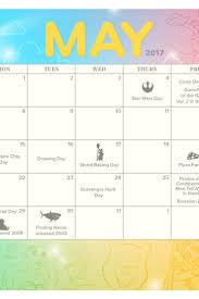 May 2017 Printable Calendar And Coloring
