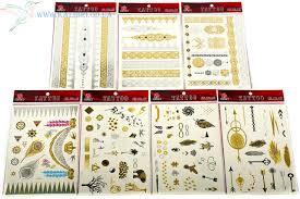 золотые татуировки украшения 7 штук