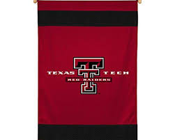 outdoor flags sports coverage ncaa texas tech red raiders sideline wall hanging