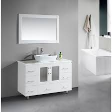 48 inch vanity with sink. Design Element Stanton Single Vessel Sink White Vanity To 48 Inch With