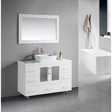 design element stanton 48 inch single vessel sink white vanity
