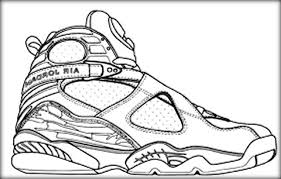 Small Picture Jordan Shoes Coloring Pages Printable Coloring Pages Ideas