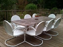 retro metal outdoor furniture. Beautiful Furniture 6 Classic Retro Metal Lawn White Chairs Furniture For Outdoor E