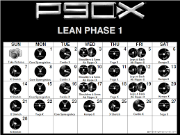 P90X Calendar | Download and Print your PDF version today!