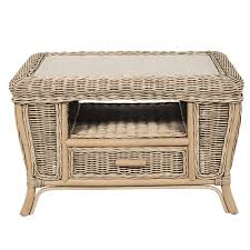 Cane Conservatory Coffee Table|Cane Small Table - Candle and Blue