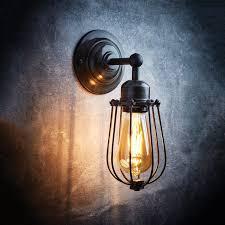 industville orlando vintage wire cage retro wall light dark pewter lighting direct