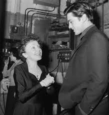 Edith Piaf y alain delon, 1959